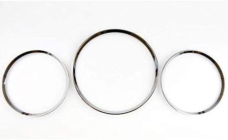 GHXSport Chrome Dashboard Gauge Ring Set for Mercedes Benz W163 ML Class