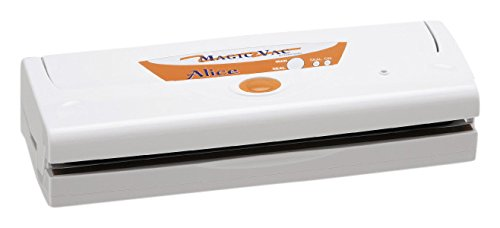Magic Vac Alice 800mbar Color blanco sellador al vacío - Envasadora al vacío (Color blanco, 800 mbar, 380 mm, 140 mm, 90 mm, 2,3 kg)