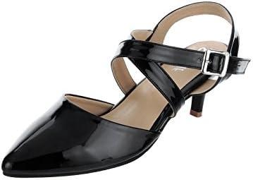 880556b824e SHERRIF SHOES Black Kitten Heel Sandals(35