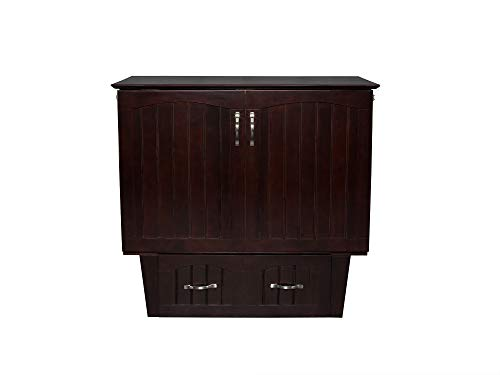 Atlantic Furniture AC592141 Nantucket Murphy Bed Chest with Charging Station & Mattress, Twin, Espresso