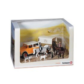 Schleich riding world play set gift box toys for Playmobil pferde set