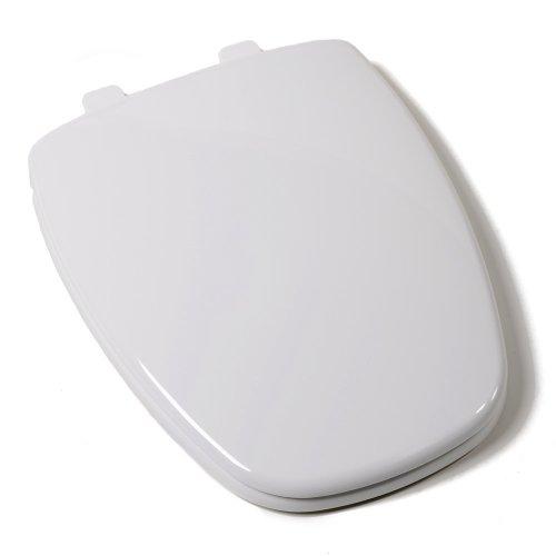 Comfort Seats C1B3E9S-00 EZ Close Premium Eljer New Emblem Design Plastic Toilet Seat, Elongated, White - Toilet Seat Elongated Eljer