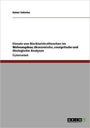 Einsatz von Blockheizkraftwerken im Wohnungsbau; ökonomische, energetische und ökologische Analysen