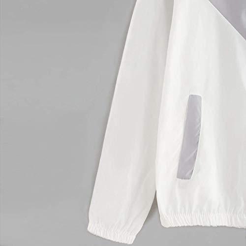 Con Relaxed Eleganti Forti Leggero Giacca Tempo Sportivo Taglie Cappuccio Di Cerniera Mode Fashion Misti Giubbino Giacche Outwear Primaverile Lunga Donna Manica Colori Grau Autunno Libero Marca R8qWv5wa