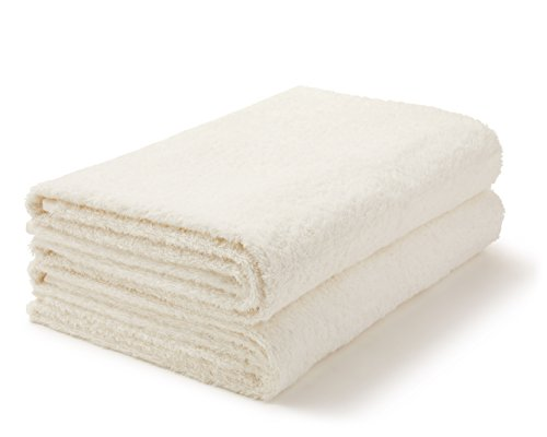 Organic Cotton Bath Towel (Bleach Free Dye Free Organic Cotton Bath Towels (Natural White, Set of 2))