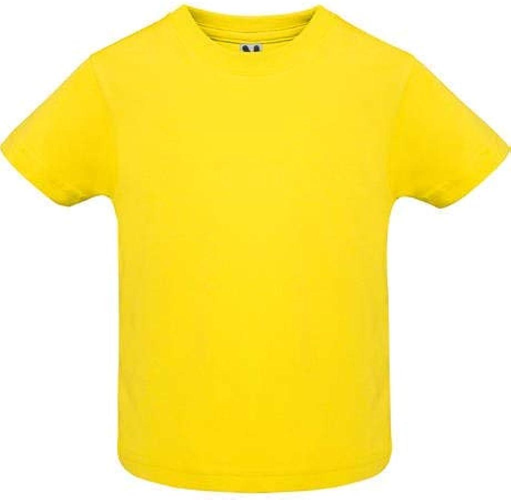 Camiseta de manga corta especial para bebe -ROLY (6 MESES, AMARILLO): Amazon.es: Ropa y accesorios