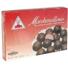 Joyva Passover Chocolate Covered Marshmallows Cherry Flavor Gluten Free, 9-ounce (Pack of 2) (Joyva Marshmallow)
