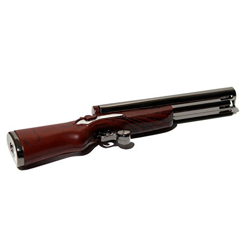 - B10 Double Barrel Shotgun Novelty (Not Real) Refillable Butane Lighter - Dual Flames - 4.75 Inch - Unboxed -