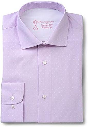 Camisa de Vestir Manga Larga, con Estampado de Color Malva ...