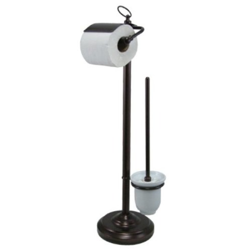 Kingston Brass CC2015 Pedestal Toilet Paper Holder with Toilet Brush Holder, Oil Rubbed Bronze