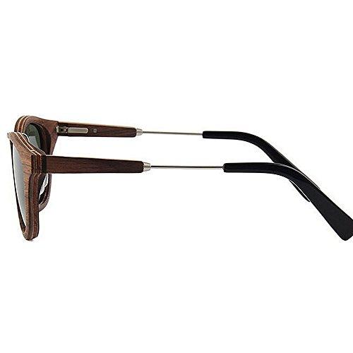 de caballero de calidad a alta mano a de gafas sol conducen de de gafas del sol mano polarizadas hechas madera la ULTRAVIOLETA de Gafas las protección Sunglasse Gris gafas Retro sol que Beach sol de hechas OtxqwXHx