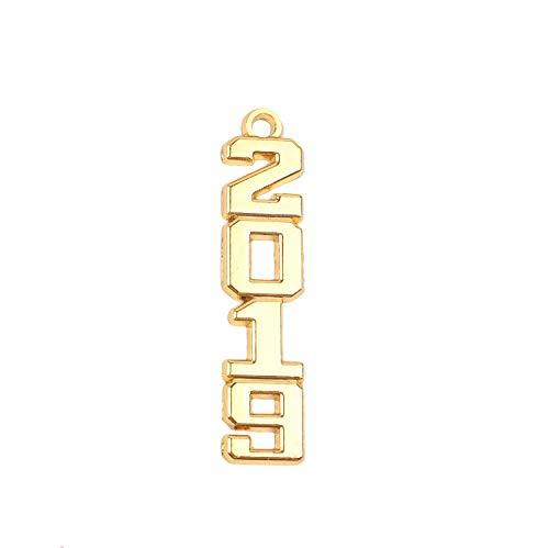 Graduation Alloy Gold 2019 Year Charm for Graduation - Gold Tassel Plated