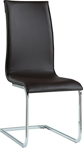 Global Furniture Dining Chair Wenge 3D & Brown Pu -