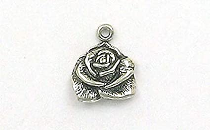 Solid 925 Sterling Silver Polished Circle with Heart Pendant Charm 12mm x 22mm