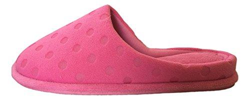Azalea Dearfoams Dot Slippers Women's Pink Polka xYYwSz