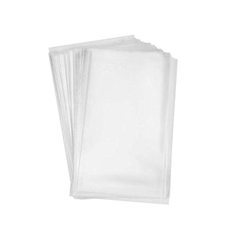 100x Clear Flat Cello/Cellophane Treat Bag 6x8 inch(1.2mil) Gift Basket Supplies (Clear Treat Bags)