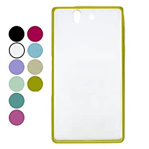 Transparant Frosted Hard Case for Sony Xperia Z L36h (Assorted Colors) --- COLOR:Green