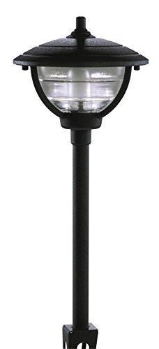 Paradise GL22788BK Low Voltage Cast Aluminum 10-Watt Halogen Palm Island Post Light, Black