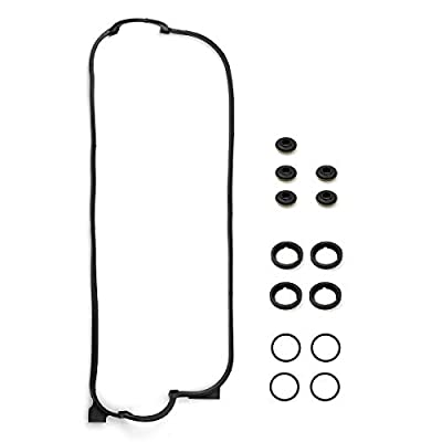 Vincos Engine Valve Cover Gasket Set w/Spark Plug Tube Seals & Grommets Replacement For HONDA ACCORD DX LX 90-98 2.2L F22A1 VS50365R VCHO012