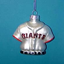 Kurt Adler 3.25-Inch Glass San Francisco Giants Jersey Ornament