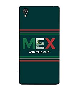 ColorKing Football Mexico 03 Green shell case cover for Sony Xperia Z1