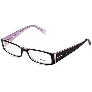 Prada PR10FV Eyeglasses-3AX/1O1 Black/Lite Lavender-53mm