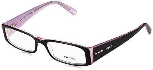 Prada PR10FV Eyeglasses-3AX/1O1 Black/Lite - Women Prada Glasses