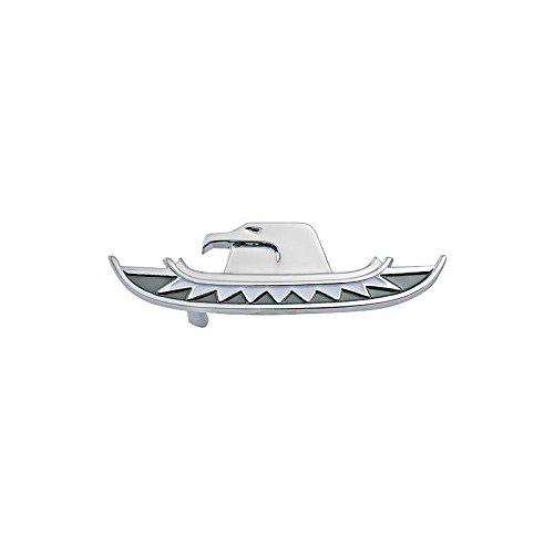 - MACs Auto Parts 66-33906 - Ford Thunderbird Trunk Lock Ornament Key Hole Cover, Chrome With Black & White Paint, Coupe