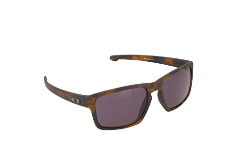 Oakley Men's Sliver OO9262-03 Rectangular Sunglasses, Matte Brown Tortoise, 57 - Sunglasses Brown Tortoise