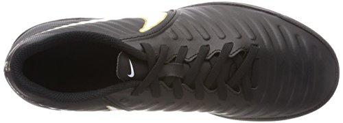 Nike Tiempox Rio IV TF, Zapatillas de Fútbol Para Hombre, Negro (Black/White-Black 002), 38.5 EU