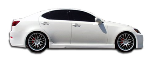 2006-2013 Lexus IS Series IS250 IS350 Duraflex VIP Side Skirts Rocker Panels - 2 Piece (Fiberglass Skirt Side)