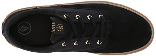 Volcom Men's Draw Lo Suede Fashion Skate Shoe Black Out sale 100% guaranteed HFFT7WQ