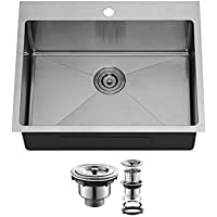 Agua Canada Kitchen Sink Stainless Steel Top Mount 25x20 Inches Handmade Enzo
