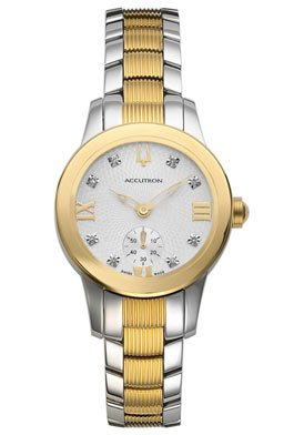 Accutron Ladies Swiss - Women's Masella Diamond Two Tone Stainless Steel