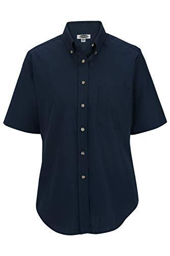 - Edwards Ladies' Easy Care Short Sleeve POPLIN Shirt 3XL Navy