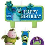amscan Cake Candle Set   Disney Monsters University Collection   Birthday