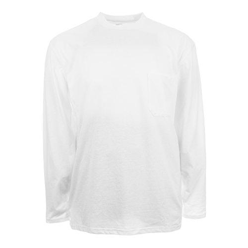 Insect Shield Men's UPF Dri-Balance Long Sleeve Pocket Tee, White, X-Large