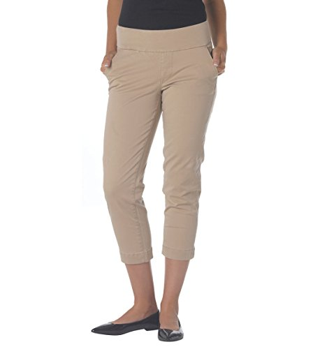 Jag Jeans Women's Hope Bay Twill Slim Fit Crop British Khaki Pants 0 X - Fit Classic Bay Jeans