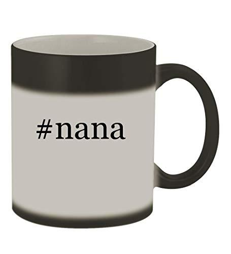 #nana - 11oz Color Changing Hashtag Sturdy Ceramic Coffee Cup Mug, Matte Black