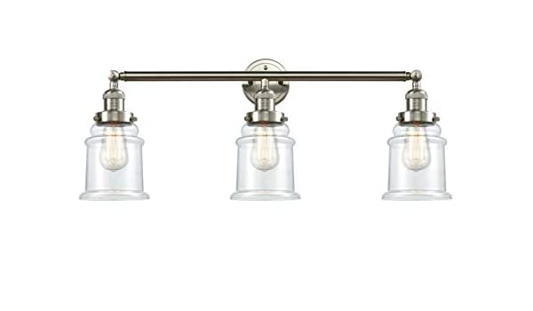 Brushed Satin Nickel Innovations 205-SN-S-G191 3 Light Adjustable Bathroom Fixture