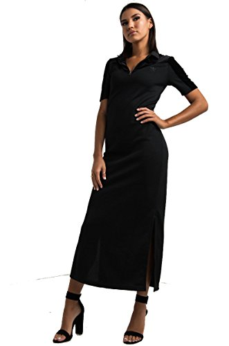 adidas Original Velvet Vibes Long Tee Dress (Womens) (Black, M)