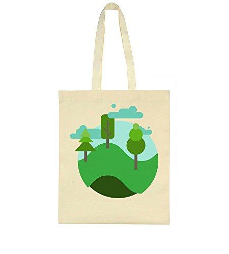 Round Beautiful Nature Tote Bag Beautiful Landscape Round zx0qEwE