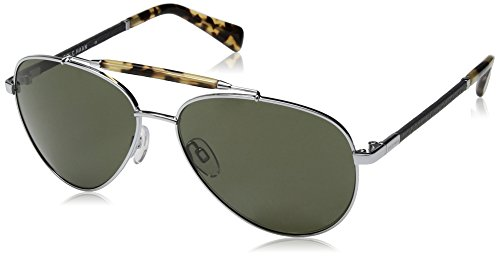 Cole Haan Men's Ch6002s Aviator Sunglasses, Light Gunmetal, 59 - Closeout Designer Sunglasses