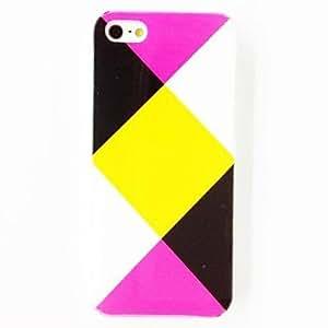 ZCL-Patrón irregular triangular caja de la caja de plástico duro para el iPhone 5/5S
