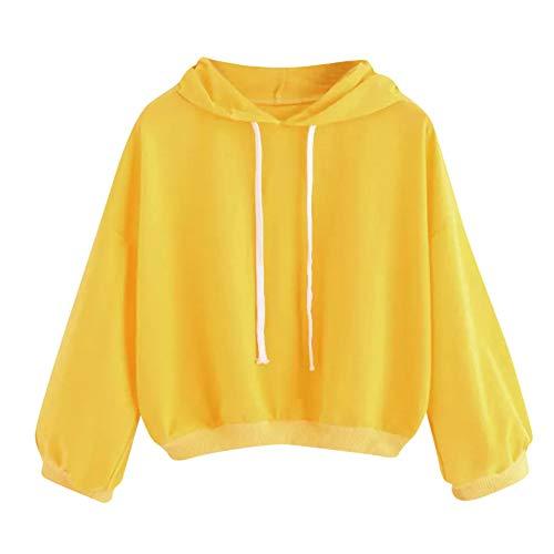 Femme Jaune A Académie Manches Sweat Capuche Aimee7 Tops Casual Blouse Sweatshirt Longues À 65wq74x