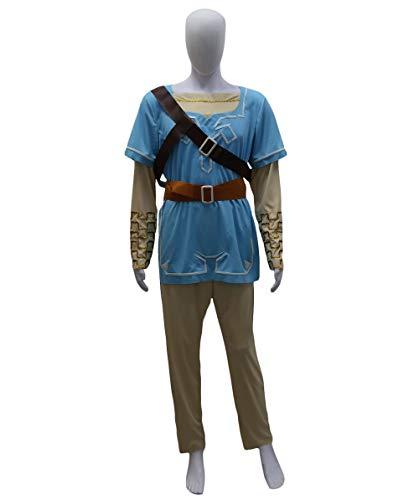 Adult Men's Costume for Cosplay Legend of Zelda Link Breath of The Wild HC-491 -