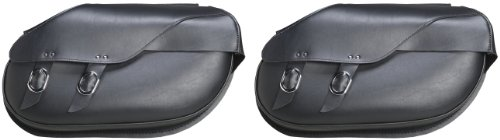 Willie & Max By Dowco - Revolution Series - Retro Throw-Over Motorcycle Saddlebag Set - Lifetime Limited Warranty - UV Protection - Maintenance Free Synthetic Leather - Large - Up To 37.25L Capacity [ 59486-00 ]