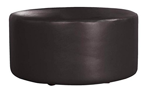Patio Ottoman Cover in Black by Howard Elliott Collection
