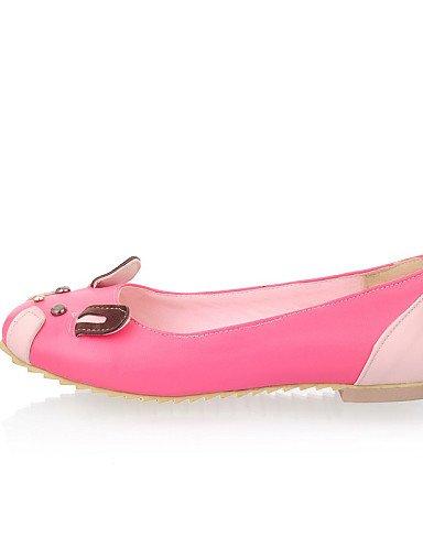 PDX/ Damenschuhe - Ballerinas - Kleid / Lässig - Kunstleder - Flacher Absatz - Rundeschuh - Rosa / Rot / Grau / Beige pink-us10.5 / eu42 / uk8.5 / cn43