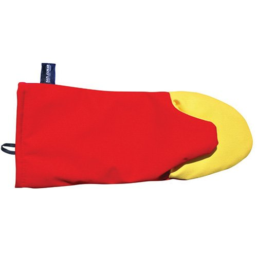 San Jamar CTP15 Cool Touch Puppet Oven Mitt Heat Protection up to 500° F, 15'' Length, Red by San Jamar